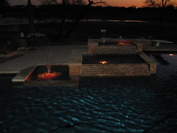 Custom pool at night
