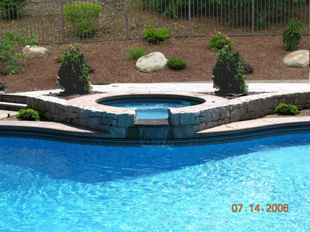 swimming pool waterfall example